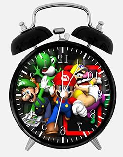 "New Super Mario Bros Alarm Desk Clock 3.75"" Room Decor C111"