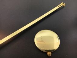 "Takane Adjustable Clock Pendulum Bob 2 3/4"" Diameter 17"" for"