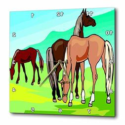3dRose TDSwhite – Horse Equine Illustrations - Grazing Hor