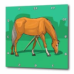 3dRose TDSwhite – Horse Equine Illustrations - Grazing Pal