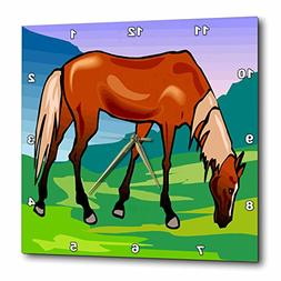 3dRose TDSwhite – Horse Equine Illustrations - Grazing Che
