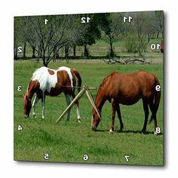 3dRose TDSwhite – Horse Equine Photos - Grazing Chestnut P