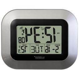 Technology Atomic Digital Home Decor Wall Clock w/ Indoor Te