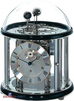 Hermle Tellurium II Specialty Clock in Nickel & Black 33% OF