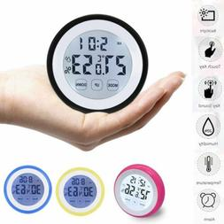 Thermometer Time Clock With Backlight Temperature Gauge Humi