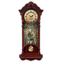 Thomas Kinkade Light Up Stained Glass Two Feet High Clock Wi