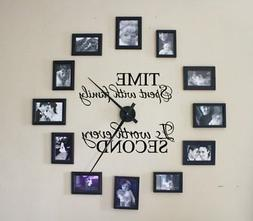 Time Spent With Family Is Worth Every Second Wall Decal For
