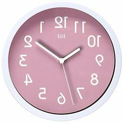 hito HITOTM Modern Colorful Silent Non-Ticking Wall Clock- 1