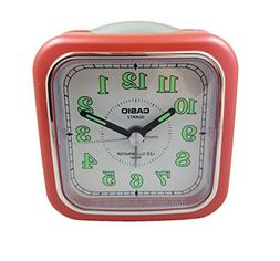 Casio Tq-157-4 Table Top Travel Alarm Clock Red