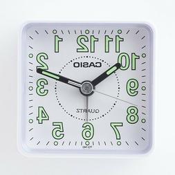 Casio TQ140-7D Travel Desk Quartz Alarm Clock Neobrite Resin