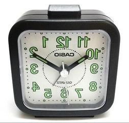 Casio TQ141-1 Black Travel Wake Up Timer Analog Travel Small