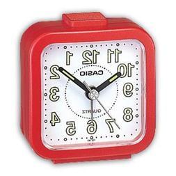 Casio TQ141-4 Tq141 Alarm Clock - Red