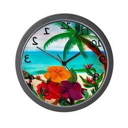 "CafePress - Tropical Floral Beach - Unique Decorative 10"" Wa"