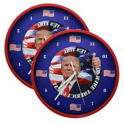 Home Innovations Trump Talking Clock Battery Operated 2Pack