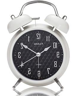 "Fzy.bstim 4"" Twin Bell Alarm Clock Battery Operated,with Bac"