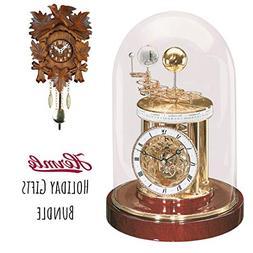 Qwirly Two Clock Bundle: Hermle ASTROLABIUM Quartz Table Clo