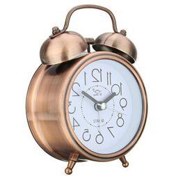 US Bedroom Snooze Alarm Clock Living Room Bedside Vintage Ro