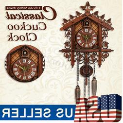 us classic vintage cuckoo clock forest quartz