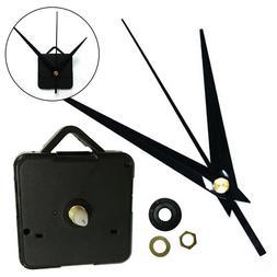 US Clock Silent Quartz Movement Mechanism Black Hands DIY Re