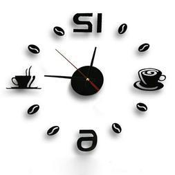 Hot Clock Wall Watch Clocks Horloge 3d Diy Acrylic Mirror S