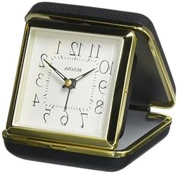 Bulova Vacationer Travel Clock, Gold