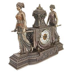 NEW Design Toscano Versailles Maidens Sculptural Mantel Cloc