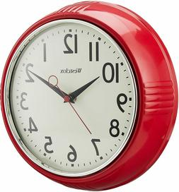 """Vintage 50s Style Retro Round 9.5"""" Red Home Kitchen Wall Clo"""