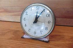 Westclox Vintage Alarm Clock Made in USA Pink Enamel case Me