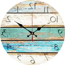 Grazing Vintage Arabic Numerals ,Shabby Beach, Weathered Bea