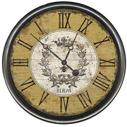 Vintage Bee Round Rustic Wall Clock USA Made