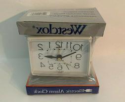 Vintage Westclox Bold II 22189 Nightstand Alarm Clock Electr