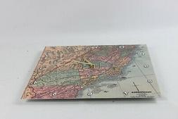 3dRose Vintage California Map USA - Wall Clock, 15 by  dpp_1