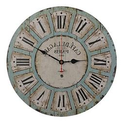 Old Oak 16-Inch Vintage Large Decorative Wall Clock Silent N