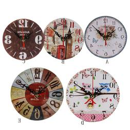 Vintage Style Antique Wood Wall Clock Home Kitchen Office We