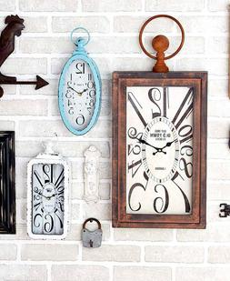 Vintage Style Wall Clocks Rustic Primitive Distressed Cottag