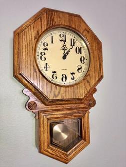 Vintage Howard Miller  Wall Hanging Clock Pendulum Antique