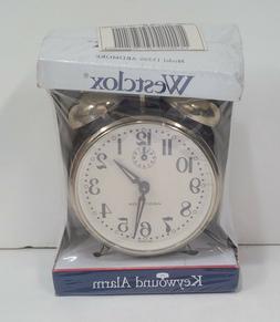 Vintage Westclox Keywound Alarm Clock Model #15396 ARDMORE