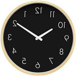 HIPPIH 12 Inch Wall Clock - Large Silent Non Ticking Digital