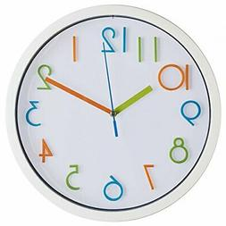 Bernhard Products Wall Clock 10Inch Silent Non Ticking Quali