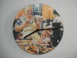 Wall Clock 11 Inch Round Quartz Battery Operated Home Decor
