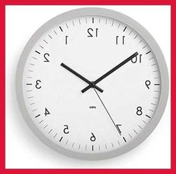 """Wall Clock 12"""" Round Plastic Frame Battery Operated Decorati"""