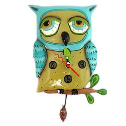 Wall clock 'Allen Designs'blue owl - 30x17 cm .