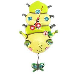 Wall clock 'Allen Designs'green butterfly caterpillar - 30.5