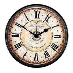 Wall Clock, JUSTUP 12 inch Black Wall Clock European Style R