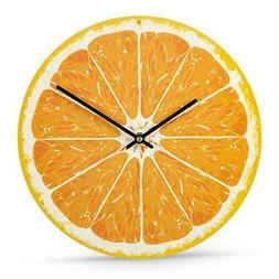 Wall Clock, Battery Operated, 12 Inch - Citrus Design Analog