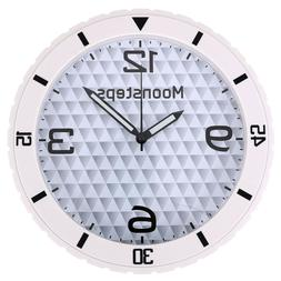 Rubber Slient Movement Wall Clock For Gift Room Office Wall