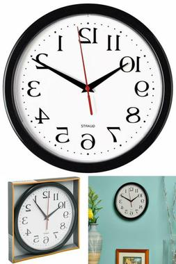 Wall Clock Black Bernhard Products, Silent Non Ticking - Qua