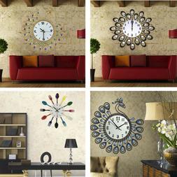Wall Clock Cartoon Vintage Style Mute Creative Wall Clock Fo