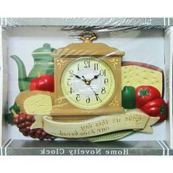 Wall Clock Kitchen Dining Daily Bread Design Analog Harko 76
