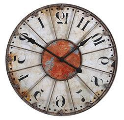 Uttermost 'Ellsworth' Wall Clock - White